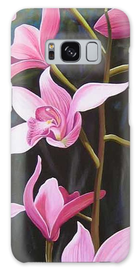 Orchids In Italy Galaxy S8 Case featuring the painting Waking Up In The Sun by Hunter Jay