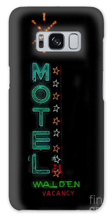 Art Galaxy S8 Case featuring the painting Walden Motel Las Vegas by David Lee Thompson
