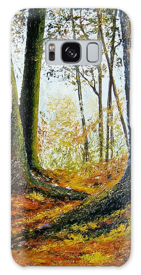 Landscape Galaxy Case featuring the painting Walk In The Woods by Tami Booher