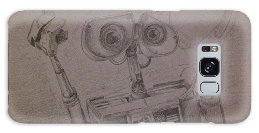 Wall-e Galaxy S8 Case featuring the drawing Wall-e With Plant by Lisa Leeman