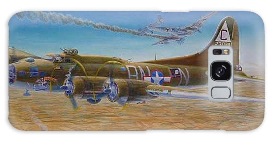 B-17 wallaroo Over Schwienfurt Galaxy S8 Case featuring the painting Wallaroo At Schwienfurt by Scott Robertson