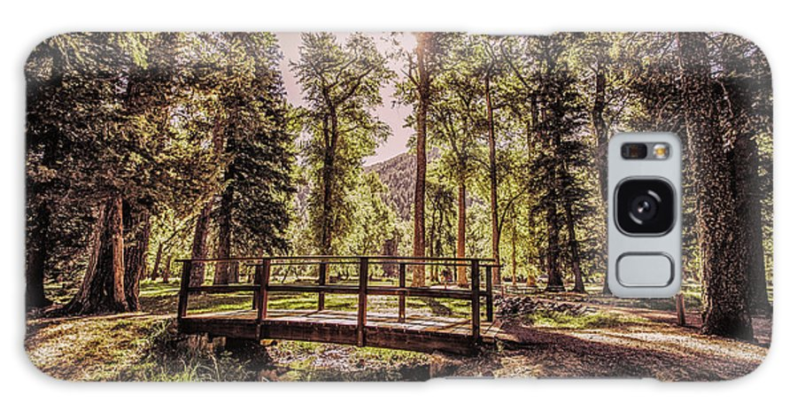 Galaxy S8 Case featuring the photograph Wallowa Lake Foot Bridge by Marcia Darby