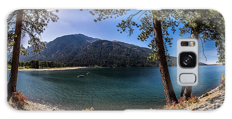 Galaxy S8 Case featuring the photograph Wallowa Lake Panorama by Marcia Darby