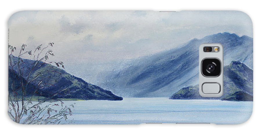 New Zealand Galaxy S8 Case featuring the painting Wanaka Lake by Stanza Widen