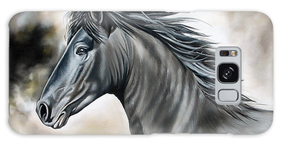 Horse Galaxy S8 Case featuring the painting Wanapun by Ilse Kleyn