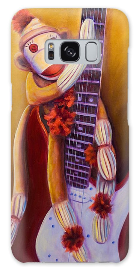 Monkey Galaxy S8 Case featuring the painting Wanna Be A Rocker by Shannon Grissom