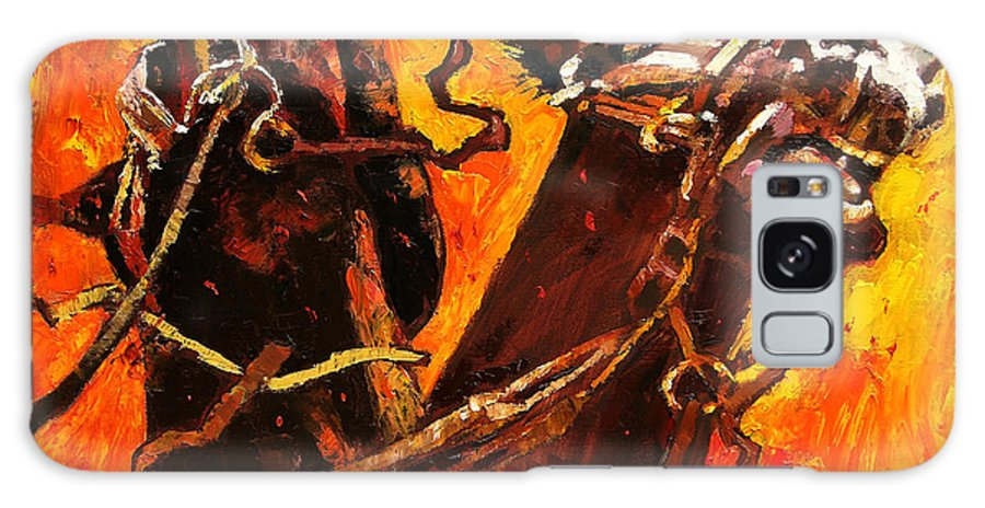 Horses Galaxy Case featuring the painting War Horses by John Lautermilch