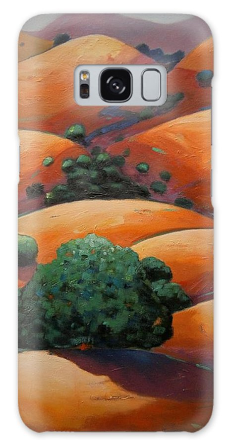 California Landscape Galaxy S8 Case featuring the painting Warm Afternoon Light On Ca Hillside by Gary Coleman