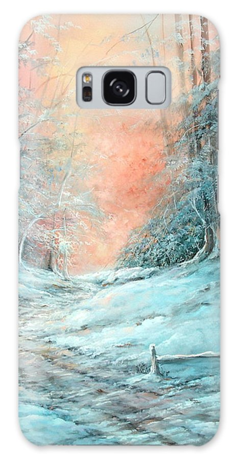 Winter Galaxy S8 Case featuring the painting Warm Winter Fantasy by Sally Seago