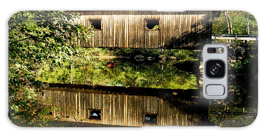 Covered Bridge Galaxy S8 Case featuring the photograph Warner Covered Bridge by Greg Fortier