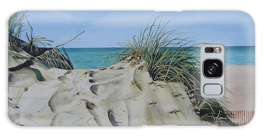 Lake Galaxy S8 Case featuring the painting Warren Dunes by Mary Rogers