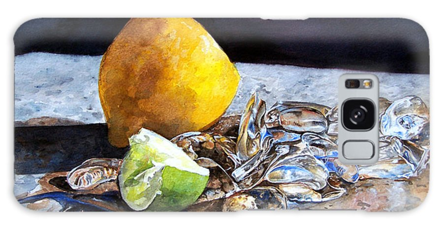 Lemon Galaxy Case featuring the painting Was... by Leyla Munteanu