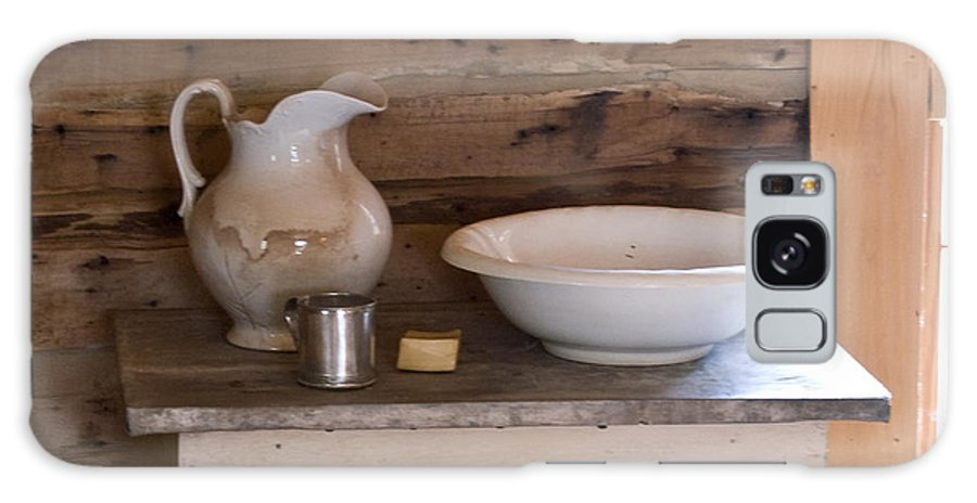 Wash Galaxy Case featuring the photograph Wash Bowl Pitcher And Cup by Douglas Barnett