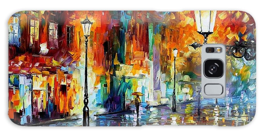 Afremov Galaxy S8 Case featuring the painting Washed City by Leonid Afremov