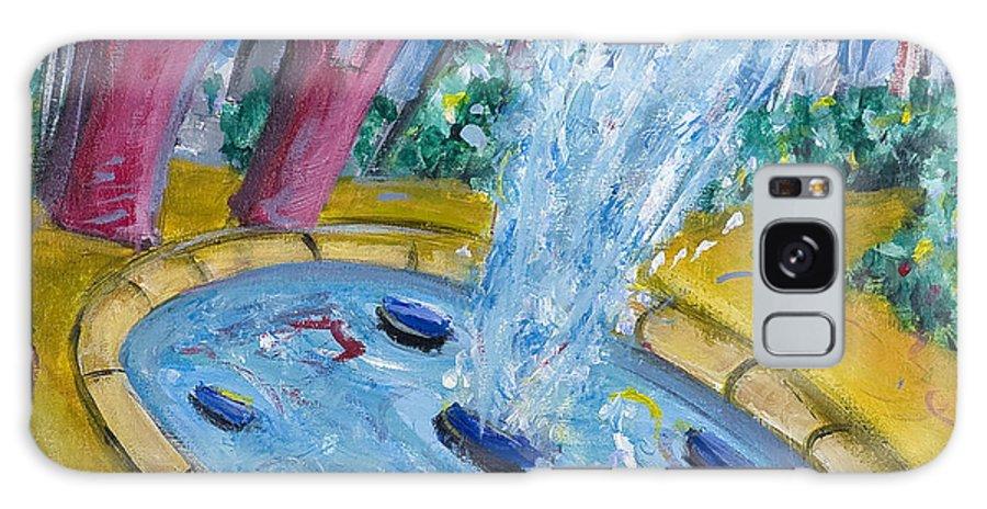 New York City Manhattan Washington Sqaure Park Galaxy S8 Case featuring the painting Washington Sqaure Park by Jason Gluskin