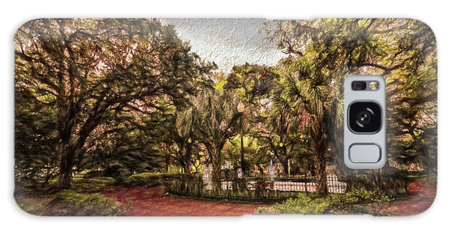 Mobile Galaxy S8 Case featuring the digital art Washington Square In Mobile Alabama Painted by Michael Thomas
