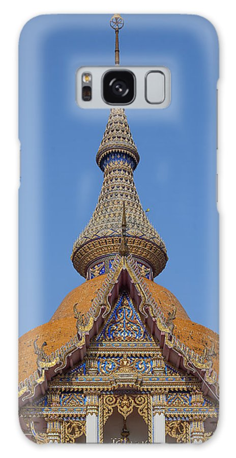 Temple Galaxy S8 Case featuring the photograph Wat Chaimongkron Phra Wihan Gable And Spire Dthcb0090 by Gerry Gantt