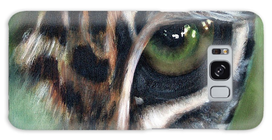 Animals Galaxy Case featuring the painting Watching You Watching Me by Fiona Jack