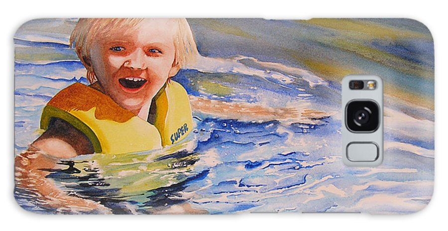 Swimming Galaxy S8 Case featuring the painting Water Baby by Karen Stark