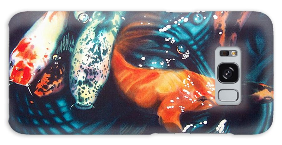 Koi Galaxy S8 Case featuring the painting Water Ballet by Denny Bond