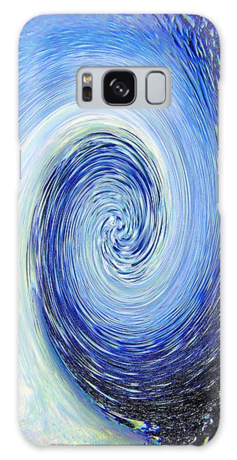 Abstract Galaxy Case featuring the photograph Water Blue Twirl Abstract by Steve Somerville