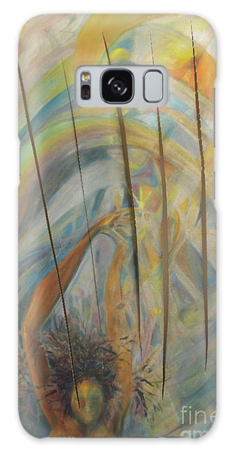 Oil Painting Galaxy S8 Case featuring the painting Water by Daun Soden-Greene