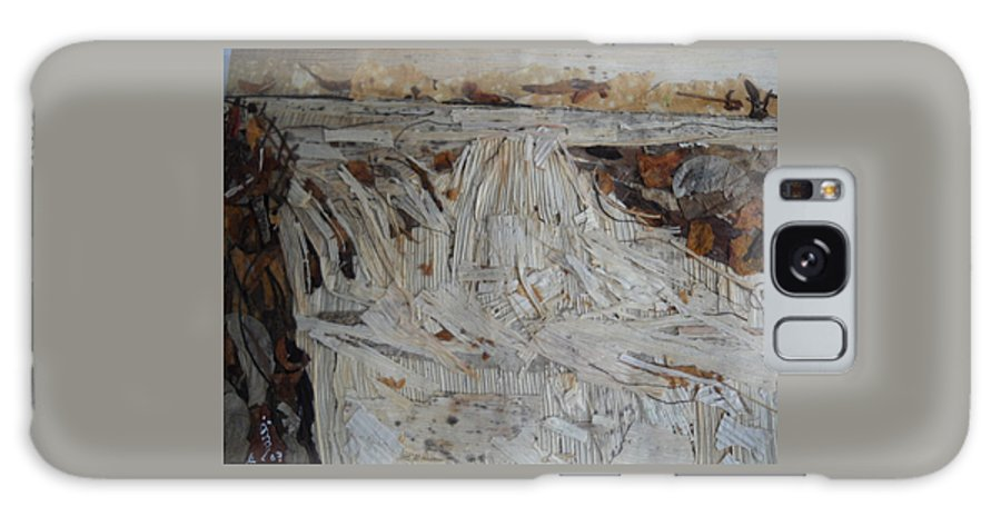 Water Fall Galaxy S8 Case featuring the mixed media Water-fall After Rainy Season by Basant Soni