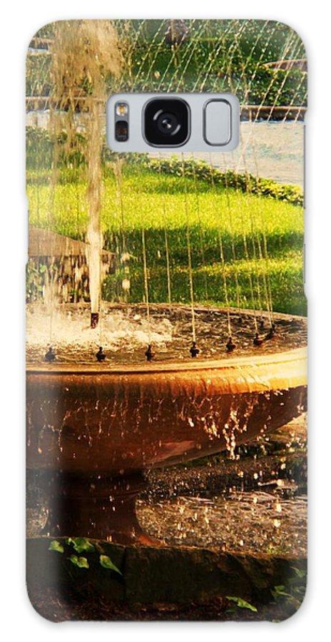 Landscape Galaxy S8 Case featuring the photograph Water Fountain Garden by Eric Schiabor