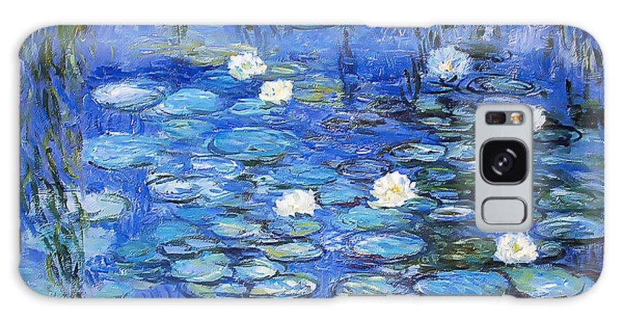 Water Lilies Galaxy S8 Case featuring the photograph water lilies a la Monet by Joachim G Pinkawa