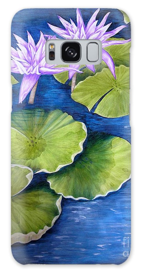 Water Lilies Galaxy S8 Case featuring the painting Water Lilies by Mary Deal