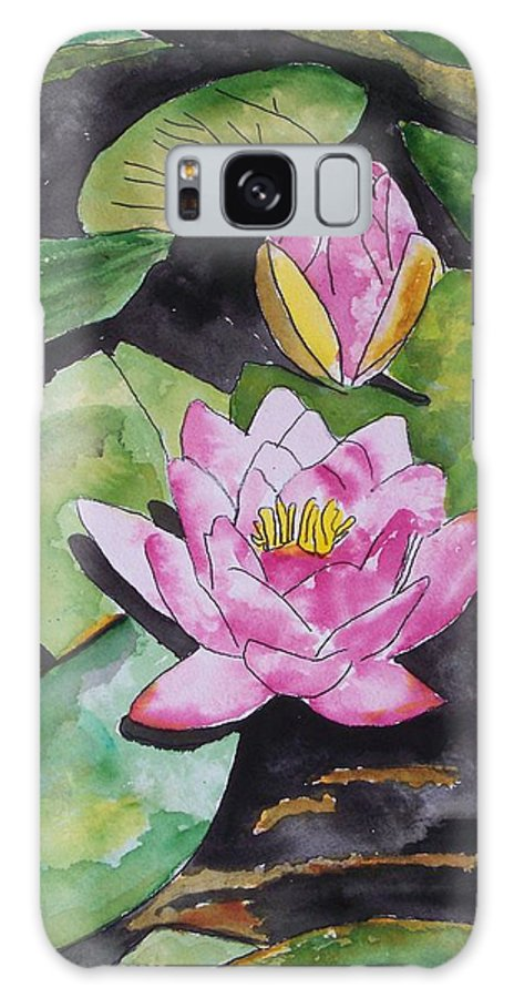 Water Lily Galaxy S8 Case featuring the painting Water Lily by Derek Mccrea