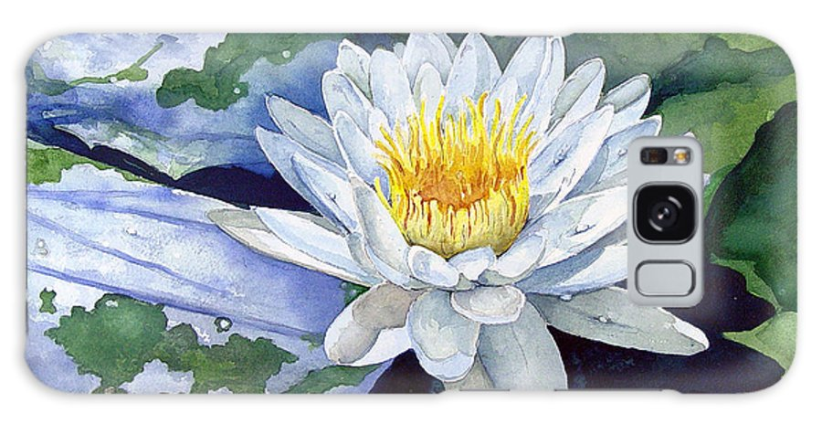Flower Galaxy S8 Case featuring the painting Water Lily by Sam Sidders