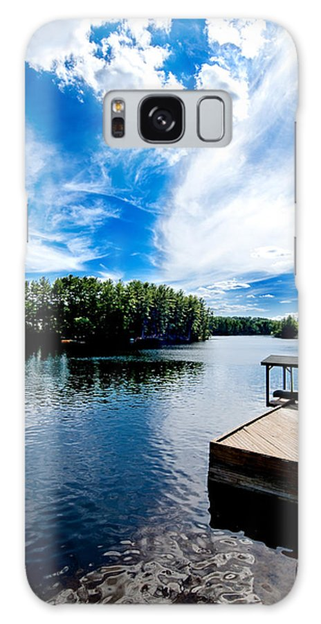 Water Galaxy S8 Case featuring the photograph Water Mirrors Sky by Greg Fortier