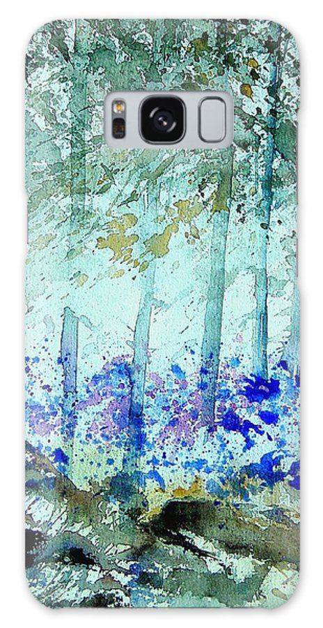Tree Galaxy Case featuring the painting Watercolor 011105 by Pol Ledent