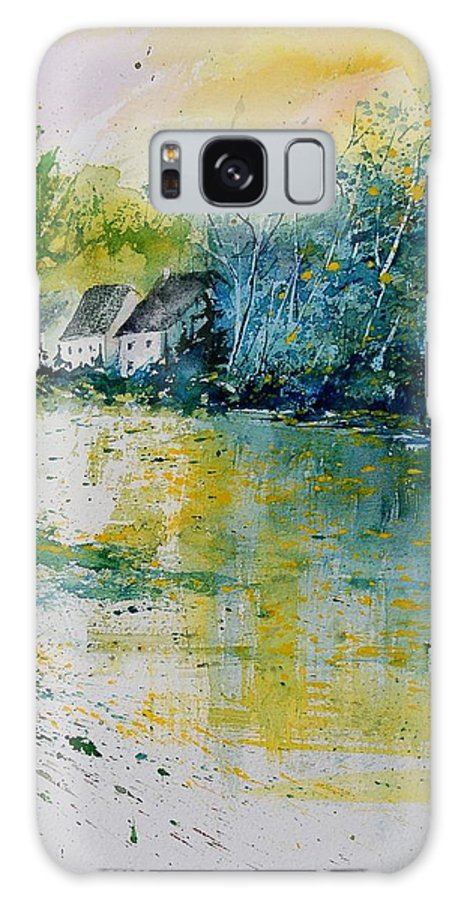 River Galaxy Case featuring the painting Watercolor 011108 by Pol Ledent