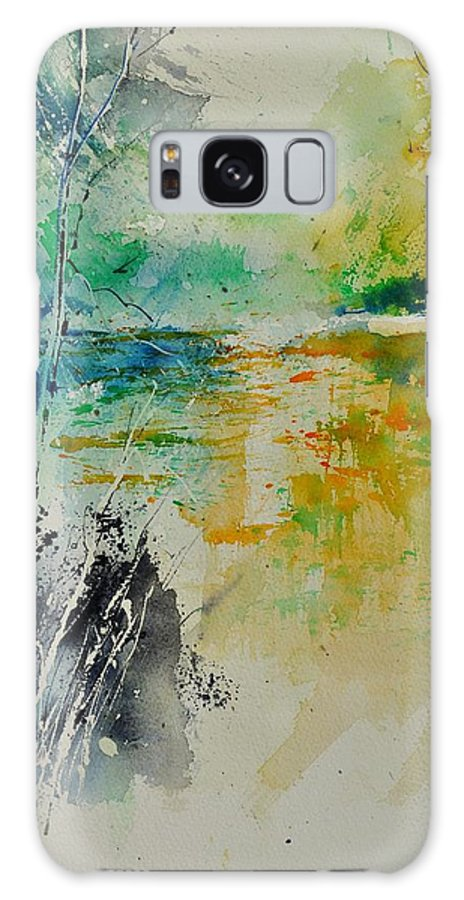 Pond Galaxy S8 Case featuring the painting Watercolor 018080 by Pol Ledent