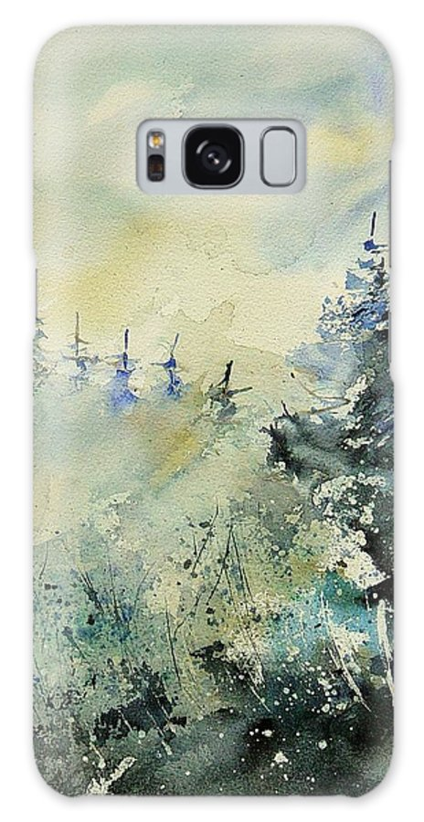 Winter Galaxy Case featuring the painting Watercolor 020307 by Pol Ledent