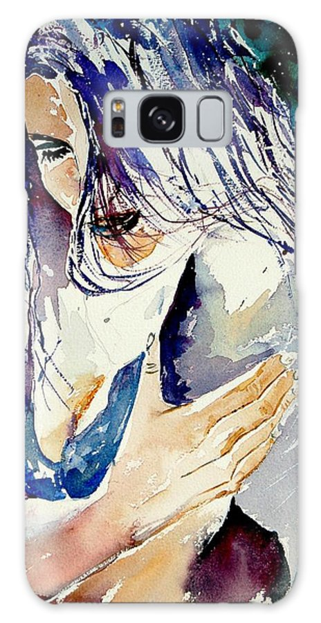 Girl Galaxy Case featuring the painting Watercolor 050308 by Pol Ledent