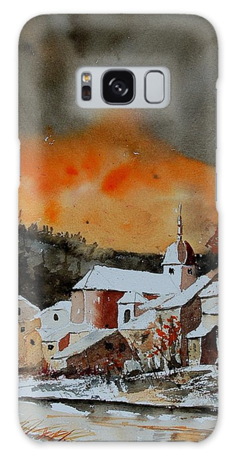 Winter Galaxy Case featuring the painting Watercolor 050707 by Pol Ledent