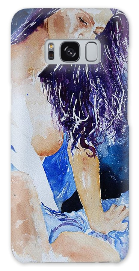 Nude Galaxy Case featuring the painting Watercolor 070308 by Pol Ledent