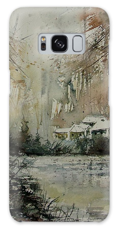 Landscape Galaxy Case featuring the painting Watercolor 070608 by Pol Ledent
