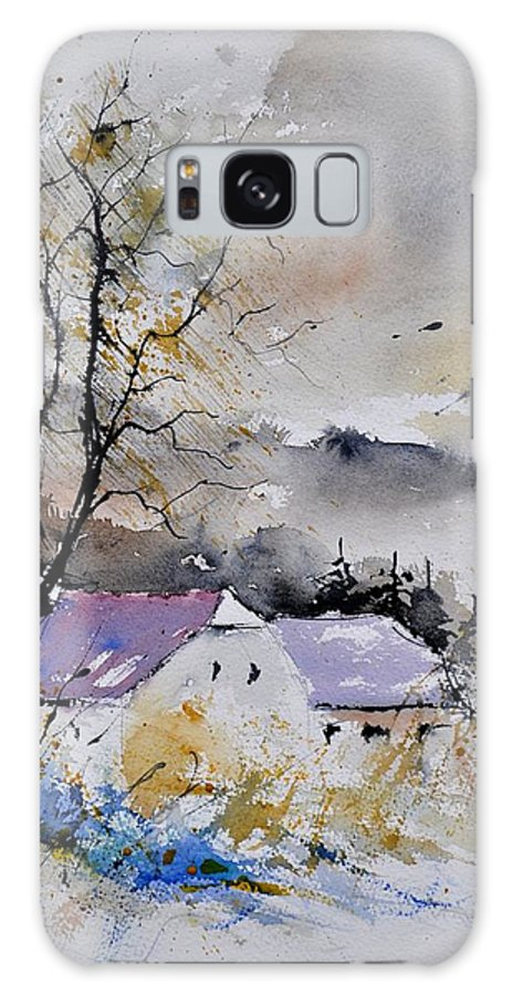 Landscape Galaxy S8 Case featuring the painting Watercolor 112012 by Pol Ledent