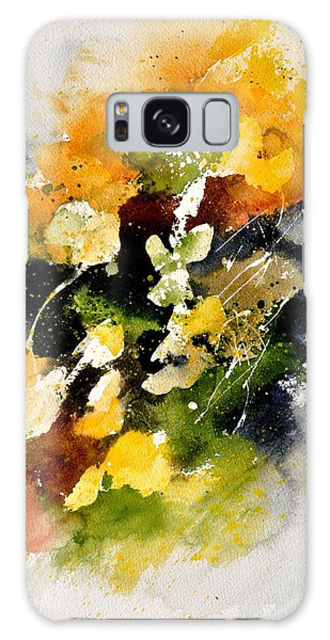 Abstract Galaxy S8 Case featuring the painting Watercolor 115002 by Pol Ledent