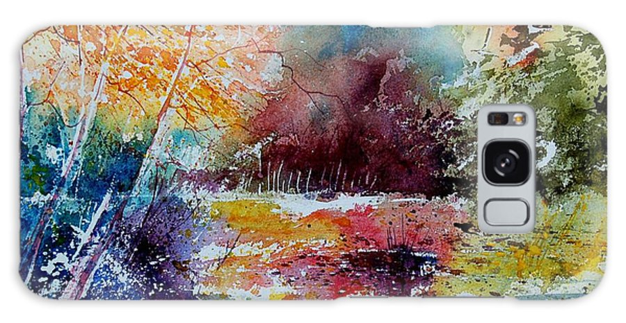 Pond Galaxy Case featuring the painting Watercolor 140908 by Pol Ledent