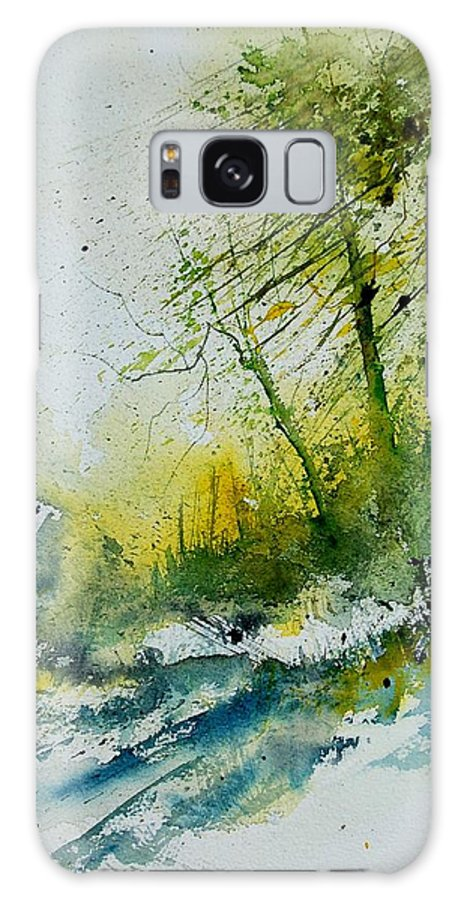 River Galaxy S8 Case featuring the painting Watercolor 181207 by Pol Ledent