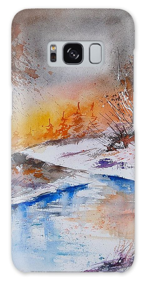 Snow Galaxy Case featuring the painting Watercolor 200308 by Pol Ledent