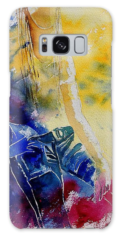 Girl Nude Galaxy S8 Case featuring the painting Watercolor 21546 by Pol Ledent