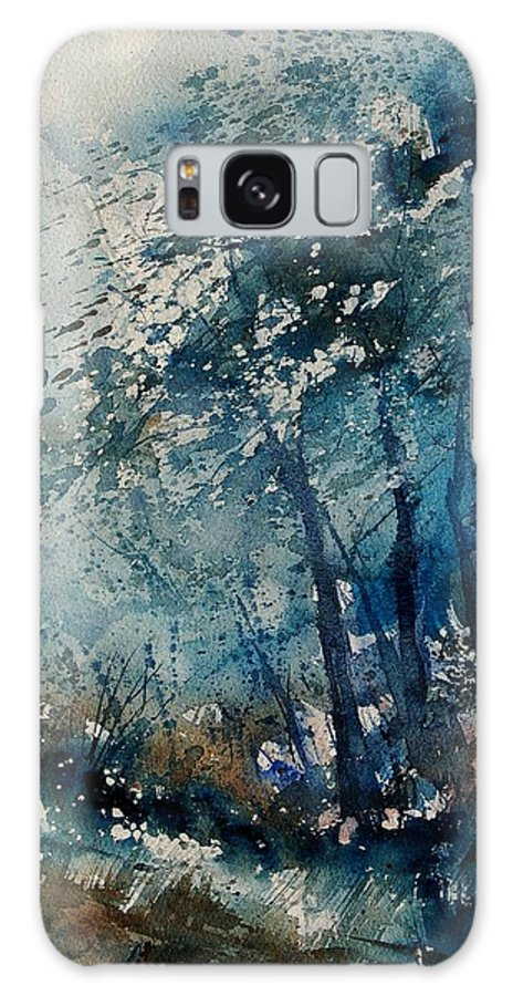 Winter Galaxy Case featuring the painting Watercolor 220907 by Pol Ledent