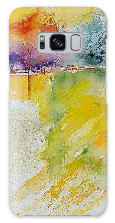 Water Galaxy Case featuring the painting Watercolor 241008 by Pol Ledent