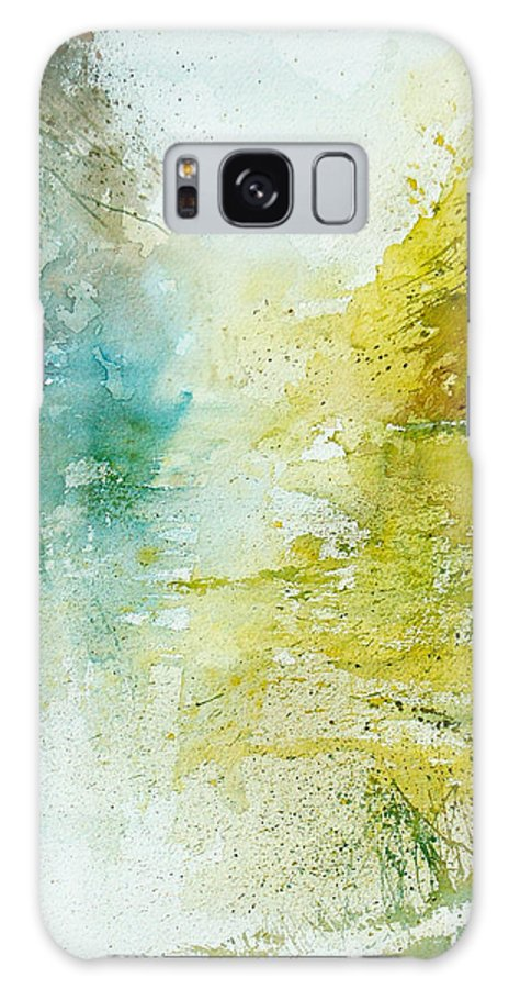 Pond Nature Landscape Galaxy Case featuring the painting Watercolor 24465 by Pol Ledent